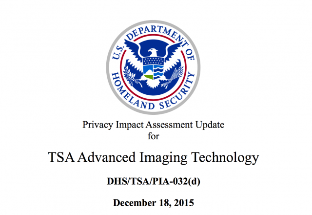 TSA Advanced Image Technology Directive