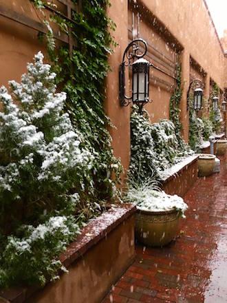 Snow in Santa Fe